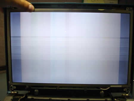 LCD screen horizontal lines