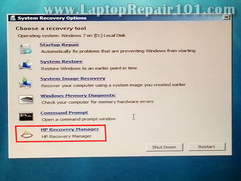 restore my hp laptop to factory settings windows 7
