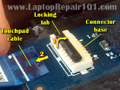 How to repair broken touchpad connector on motherboard