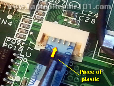 how to repair broken touchpad connector on motherboard laptop repair 101. Black Bedroom Furniture Sets. Home Design Ideas
