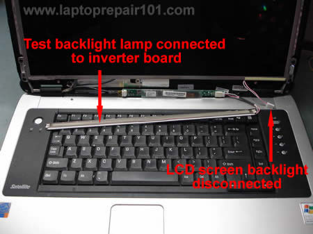 troubleshooting backlight failure laptop repair 101