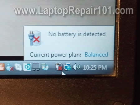 My laptop battery is not detected