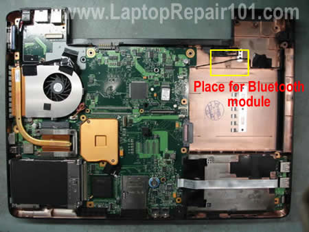 Place for Bluetooh inside laptop