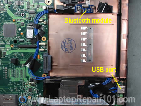 Route wires inside laptop