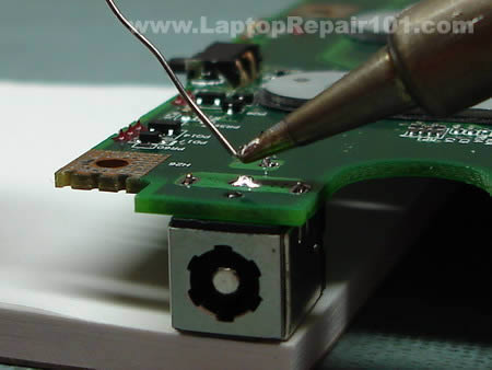 Soldering power jack