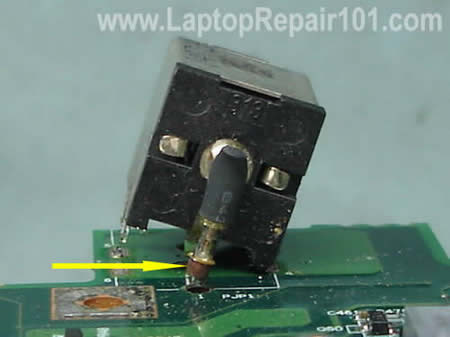 Fortify Damaged Power Jack Connection In Laptop on laptop repair diagram