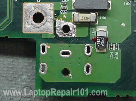 Apply fresh solder on terminal