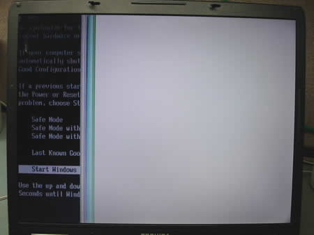 LCD screen failure