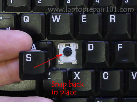 Snap key cap