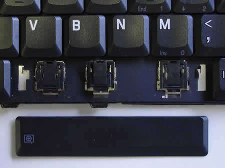 Space bar key fell off