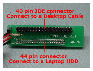 Laptop IDE Adapter Pin Layout