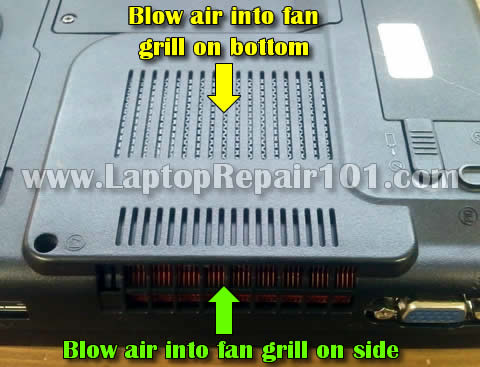 Clean laptop cooling fan