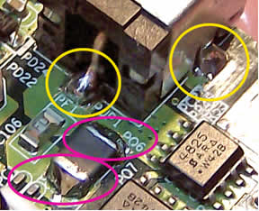 Power connector soldered