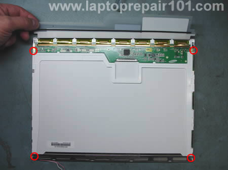 Open LCD screen