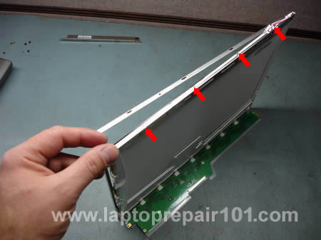 Unsnap LCD screen frame