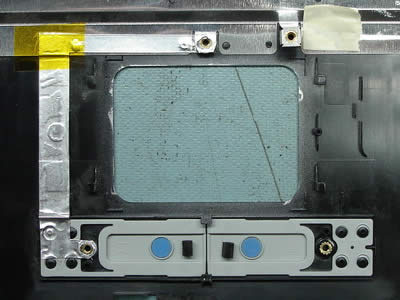 Modified top cover assembly. Touchpad area.