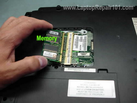 Replace reseat memory module