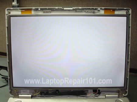 White LCD screen